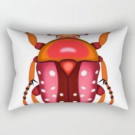 Orange and Red Beetle Rectangular Pillow