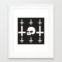 skeletor Framed Art Prints featuring Skeletor by Mountain View Art