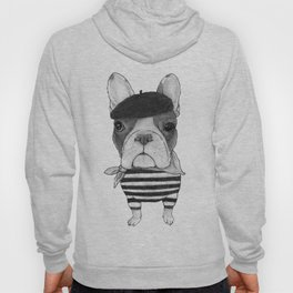 French Bulldog. (black and white version) Hoody
