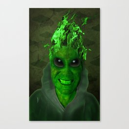 GREEN PLANET ALIEN (Us And Them) Canvas Print