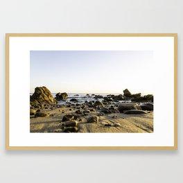 Staircase State Beach Framed Art Print