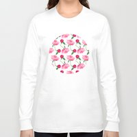 peonies Long Sleeve T-shirts featuring Peonies by Inna Moreva