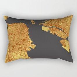 Street Map of San Francisco and Oakland, California Rectangular Pillow