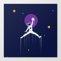 nba Canvas Prints featuring NBA Space by Tony Vazquez