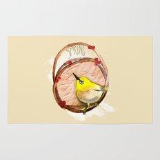 Spring birdy / Nr. 1 Rug