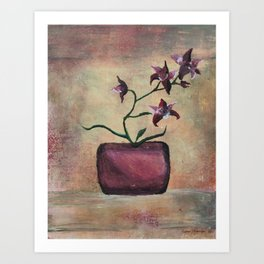 Red Orchid  Art Print