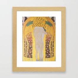 Gustav Klimt - Diesen Kuss der ganzen Welt Framed Art Print