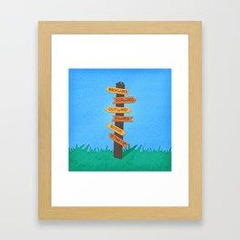 The Jolly Caucus Race Framed Art Print