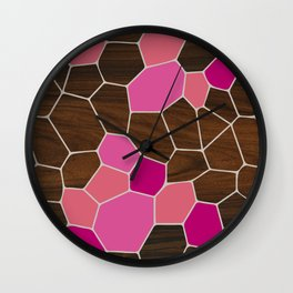 Geode in Pink Wall Clock