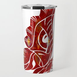 Red Butterfly Fantasy Designs Abstract Holiday Art  Travel Mug