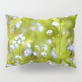Forget-me-not Flowers In Nature #decor #society6 Pillow Sham