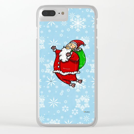 Santa Claus Sbirù Clear iPhone Case