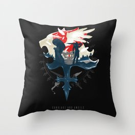 Gunblade and Angels Throw Pillow