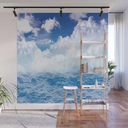 Wolken über dem Meer Wall Mural