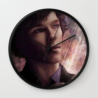 sherlock Wall Clocks featuring Sherlock by jasric