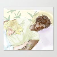 les mis Canvas Prints featuring Sleeping ExR Les Mis by Pruoviare
