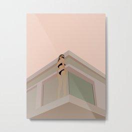 BATHING BABE | Fashion Illustration – Feminine Wall Art | Beach Print | Modern Wall Art | Digital D Metal Print