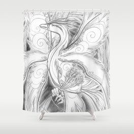 Phoenix Flight Shower Curtain