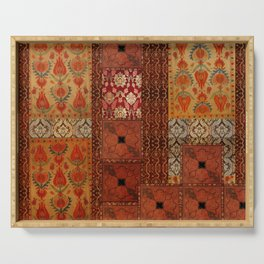 Vintage textile patches Serving Tray