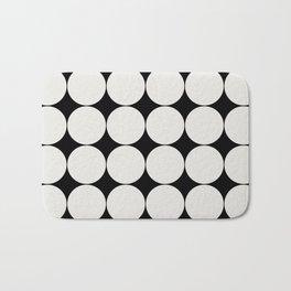 Circular Minimalism - Black & White Bath Mat