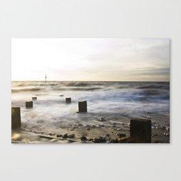"Old Hunstanton Beach ""Ten"" Canvas Print"