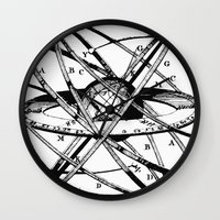 astronomy Wall Clocks featuring Astronomy Instrument by Maioriz Home