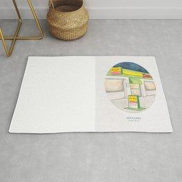 Haruki Murakami's After Dark Watercolor Illustration Rug