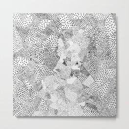 Dot Matrix BW   Abstract Geometric Metal Print