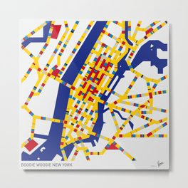 BOOGIE WOOGIE NEW YORK Metal Print