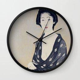 Woman in a Summer Garment by Hashiguchi Goyo, 1920 Wall Clock