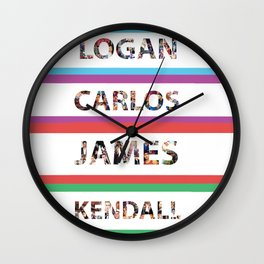 Logan Carlos James Kendall Wall Clock