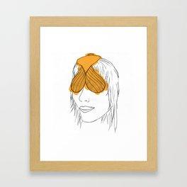 Fish Face Framed Art Print