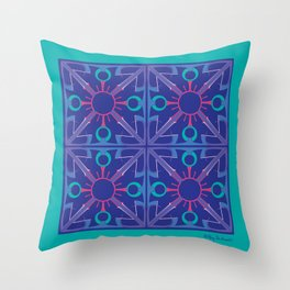 Peace is Complex Tiled Throw Pillow