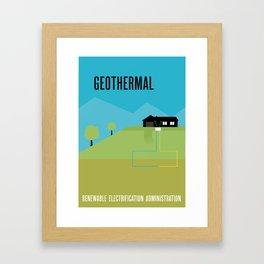 Renewable Electrification Administration - Geothermal Framed Art Print