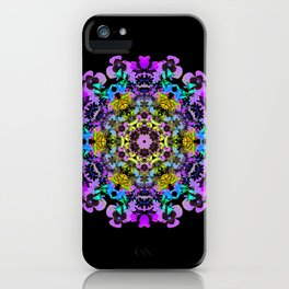 Spring wildflower mandala 2 iPhone Case