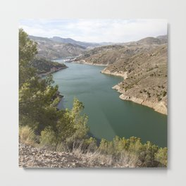 Artifical Lake In Andalusia Metal Print