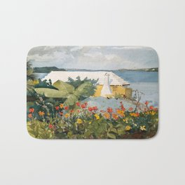 Flower Garden and Bungalow, Bermuda Bath Mat