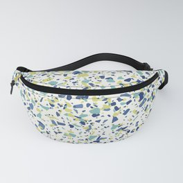 Terrazo in Blue, green and citron Fanny Pack