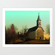 The village church of Hollerberg I | architectural photography Art Print
