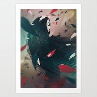 pocahontas Art Prints featuring Pocahontas by Seventy Two Studio