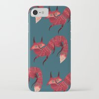 sweater iPhone & iPod Cases featuring F O X ! by Karl James Mountford