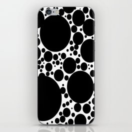 Black Bubbles Pattern Kusama iPhone Skin