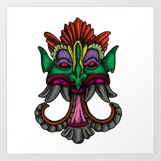 MONSTER FACE Art Print