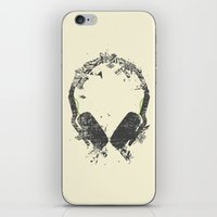edm iPhone & iPod Skins featuring Art Headphones V2 by Sitchko Igor