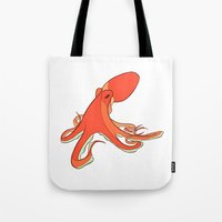 octopus Tote Bags featuring Octopus by Jemma Salume