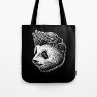 funky Tote Bags featuring Funky panda by barmalisiRTB