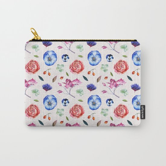 Spring flower patterns Carry-All Pouch