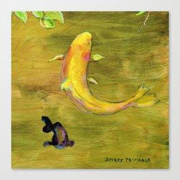 Smal Koi Pond 19 Canvas Print