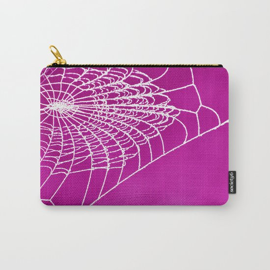 FUCHSIA WEB Carry-All Pouch