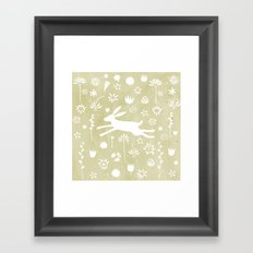 Hare in the Meadow Framed Art Print